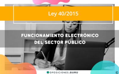 Funcionamiento electrónico del sector público